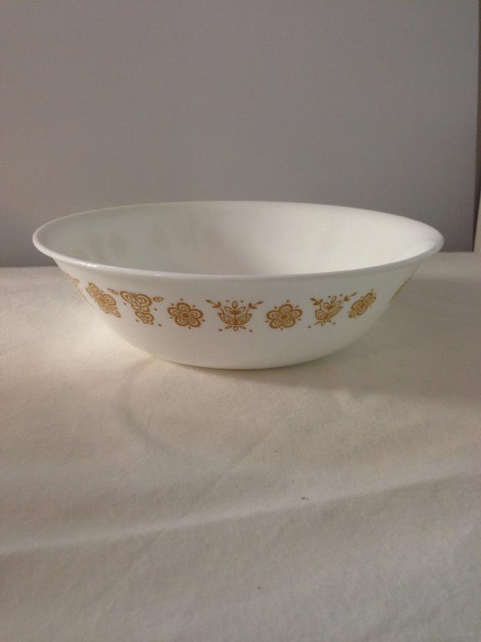 VINTAGE CORNING CORELLE GOLD BUTTERFLY Serving Bowl   8.5
