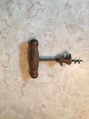 Vintage Wood Handle Corkscrew  - Wine Opener Barware