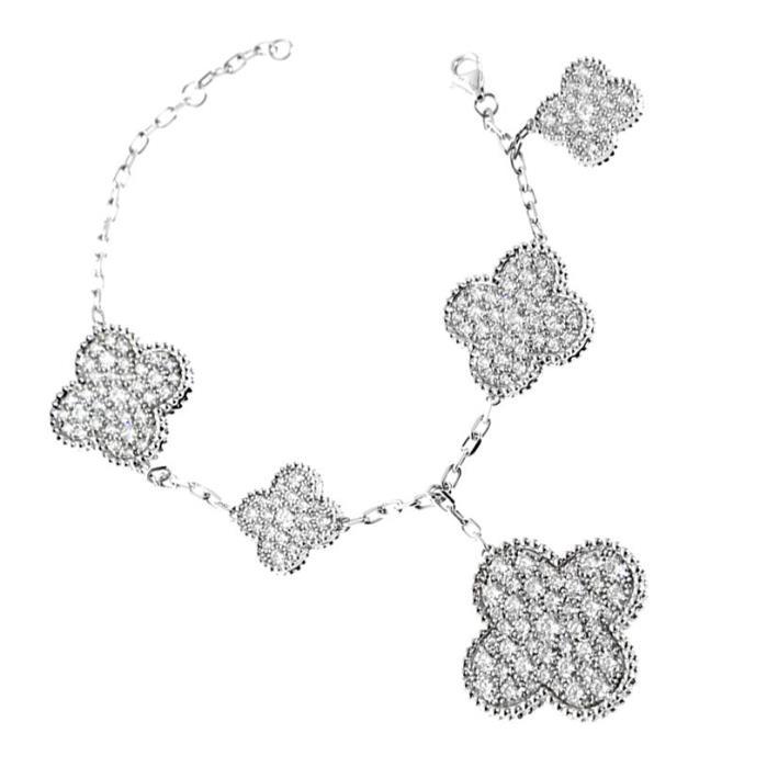 Van Cleef Arpels Diamond Magic Alhambra Bracelet 18k White Gold