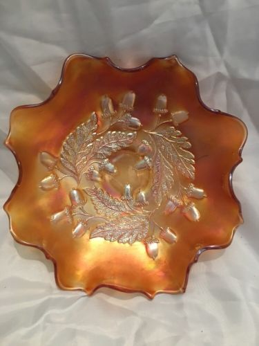 Antique Collectible Fluted Golden Candy Dish