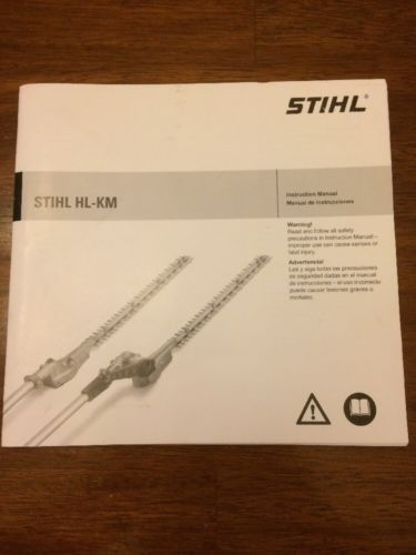 Stihl HL-KM Instruction Manual Owner's Operator's Trimmer Attachment Users Book