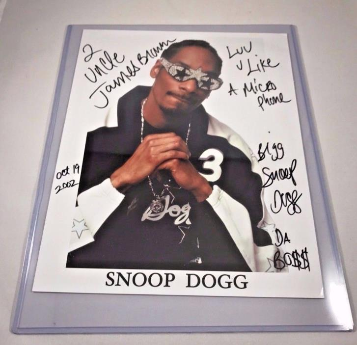 Snoop Dogg Autographed photo inscribed to the Godfather of Soul James Brown PSA