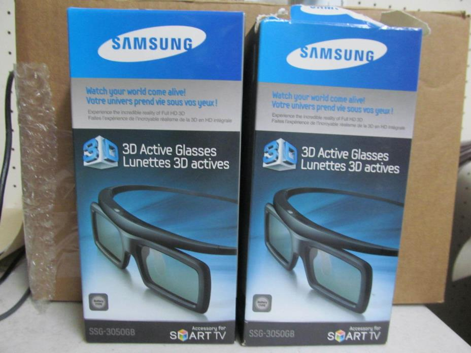 Lot of (2) Samsung 3D Active Glasses SSG-3050GB