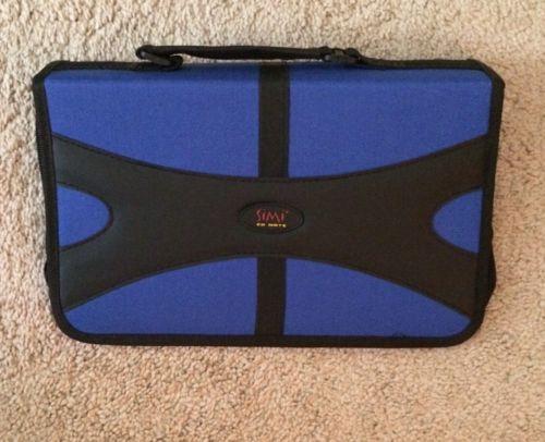 100 Disc CD DVD Portable Storage Organizer Case Holder Blue