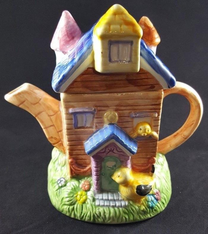Yellow Duck House Teapot