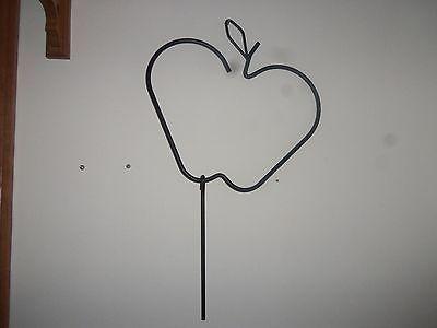 Apple Black Metal Wall Hanging- Mint