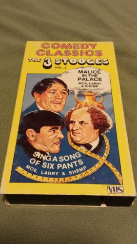 Comedy Classics The Three Stooges vol.2 VHS tape.
