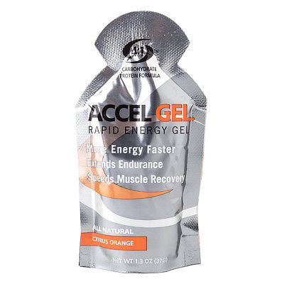 PACIFIC HEALTH NUTRITION Accel Rapid Energy Gel Citrus Orange Box of 24 Energy 1
