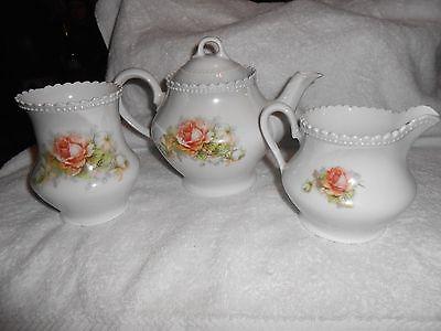 PK Silesia Teapot Creamer and Sugar Bowl