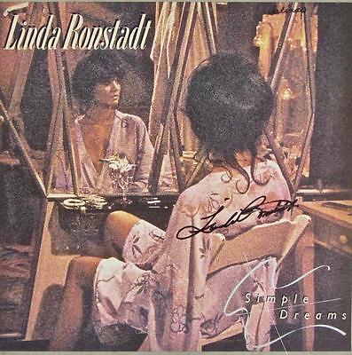 LINDA RONSTADT SIGNED AUTOGRAPH LP ALBUM -SIMPLE DREAMS