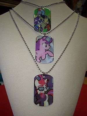 MLP Dog Tags 3 Pack Power Ponies Minuette/Moondancer SugarBell/Nightglider