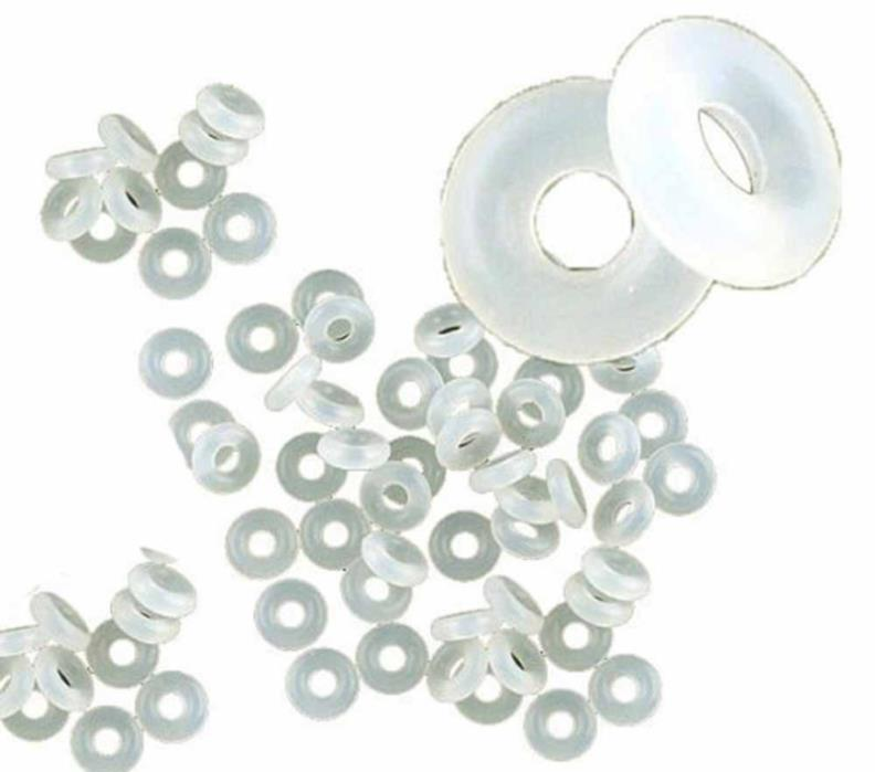 Rockin Beads 500 Stop Beads Inserts Silicone Rubber Donut Spacers Clip Over Stop