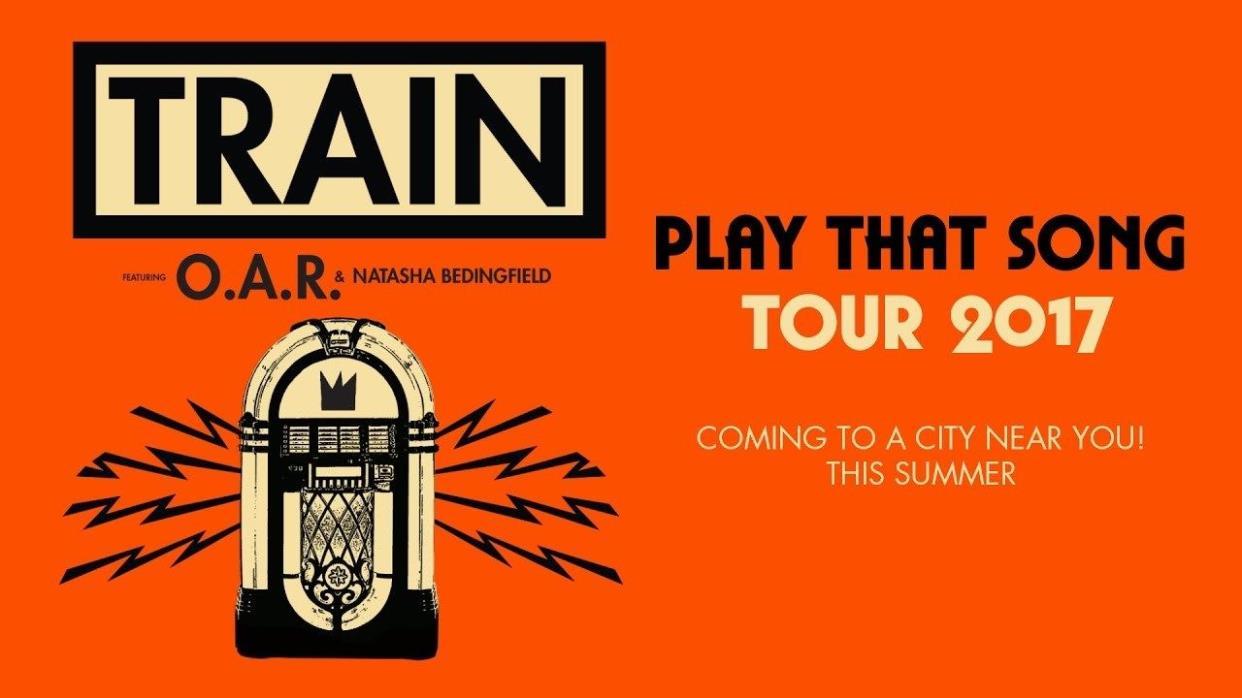 (2) Tickets to TRAIN at PNC Holmdel NJ. Fri 06/09/17. 7PM. LAWN