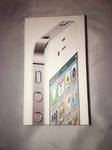 Apple iPhone 4s White 16gb BOX ONLY w Plastic Inserts