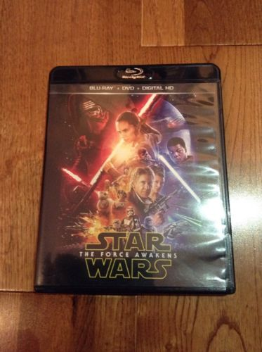 Star Wars The Force Awakens Episodes VII Blu-ray disk & DVD Mint Rare