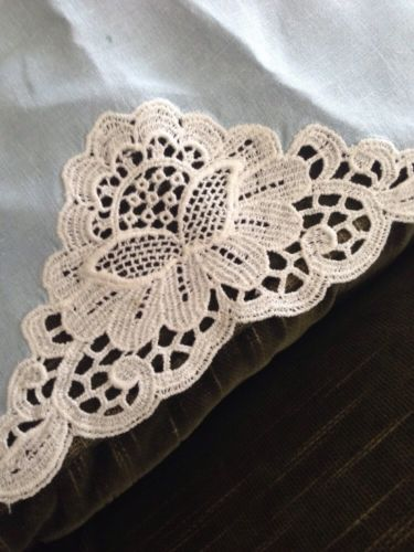 Handkerchief Doily Light Blue Lace Wedding Hanky Bride Gift Hankie Something Old