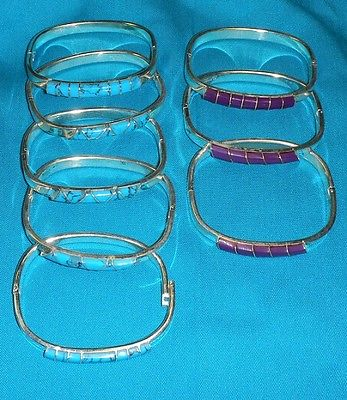 WHOLESALE CLEAERANCE-12 SOLID ALPACA SILVER HINGED BRACELETS-NEW