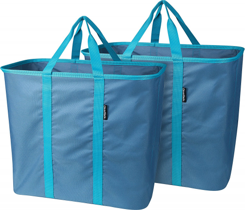 CleverMade SnapBasket LaundryCaddy Pop-Up Hamper: Collapsible Laundry Basket/Tot