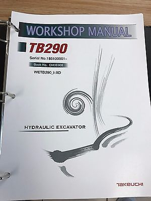 Takeuchi TB290 Mini Excavator Workshop Service Repair Manual