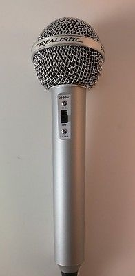 Vintage REALISTIC OMNIDIRECTIONAL 600 OHMS HIGHBALL 2 Microphone 33-985C Works