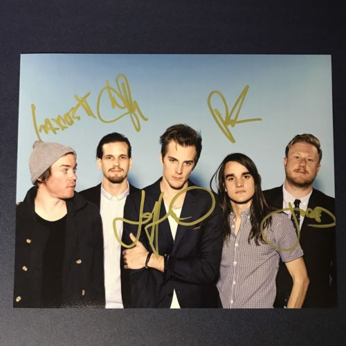 THE MAINE FULL BAND SIGNED 8x10 PHOTO AUTOGRAPHED VERY RARE HOT JOHN W/ PROOF!