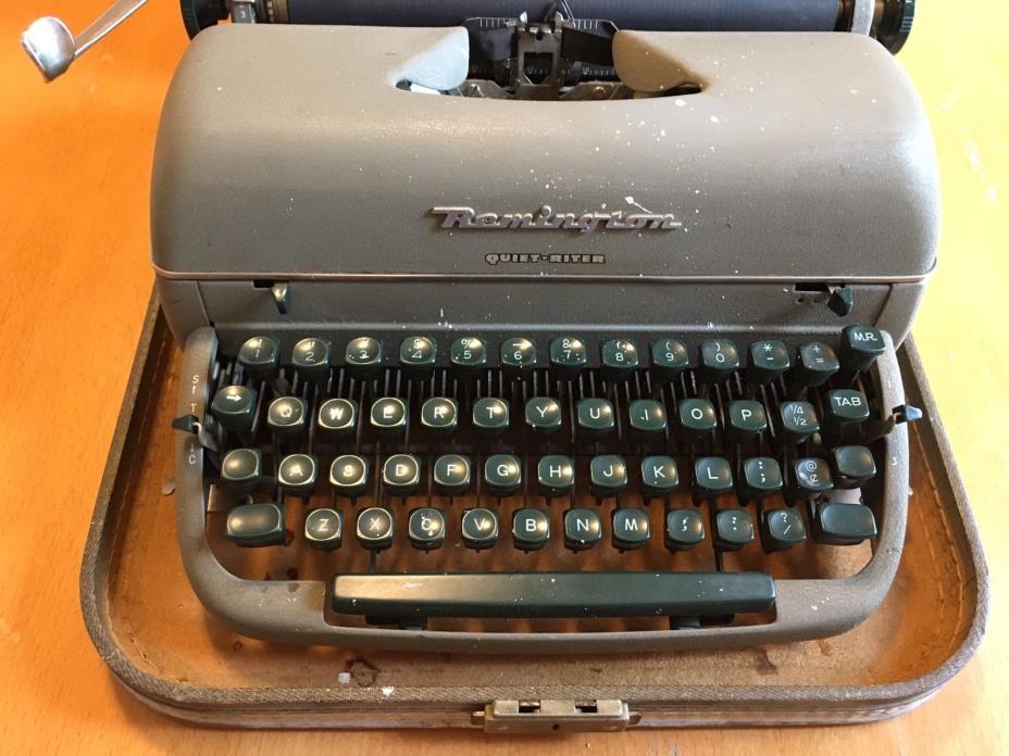 Remington quiet riter portable typewriter