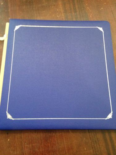 CREATIVE MEMORIES 12x12 ALBUM BLUE WITHOUT PAGES OLD SIZE