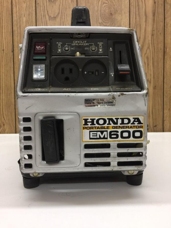Honda Motor Portable Generator EM600 Gasoline Powered 600VA Max