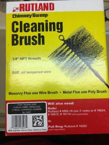 Rutland Wire Chimney Brush w/attchd Ring end: 7