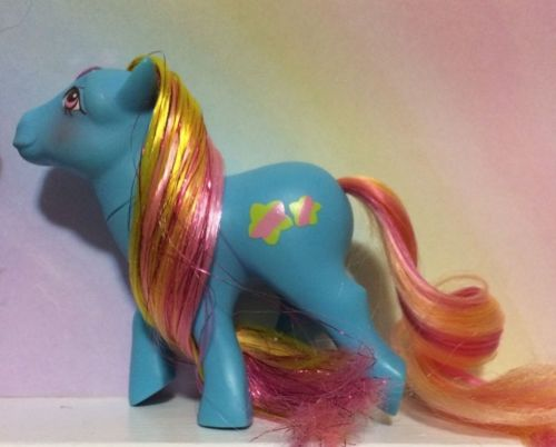 ~MY LITTLE PONY G1**Star Gleamer** Brush 'n Grow Pony~VTG ( NEAR MINT ) 1988
