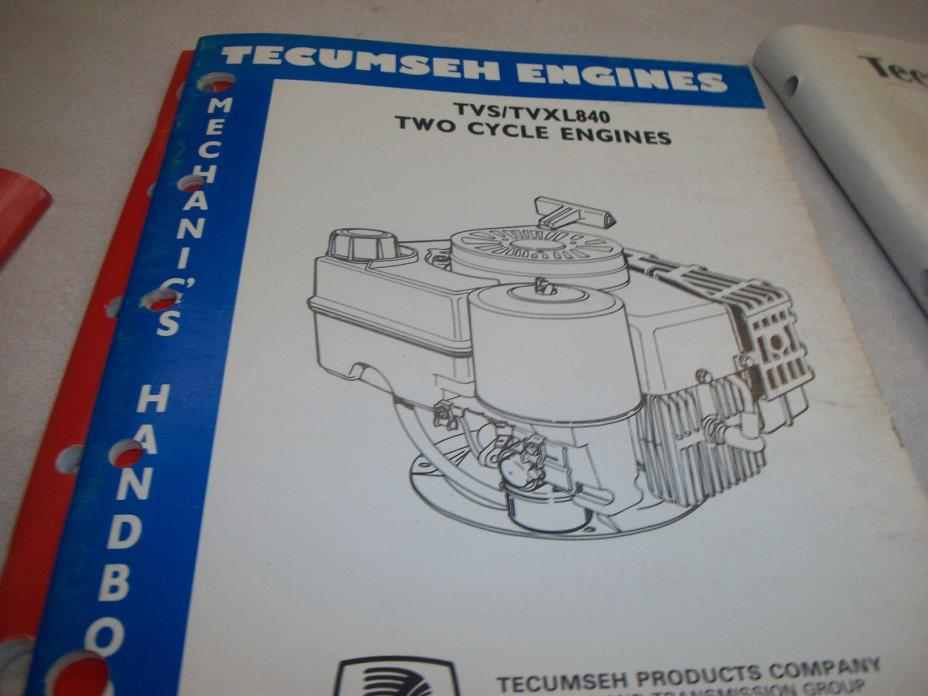 TECUMSEH ENGINE  REPAIR BOOK TVS TVXL840 TWO 2 CYCLE 694988