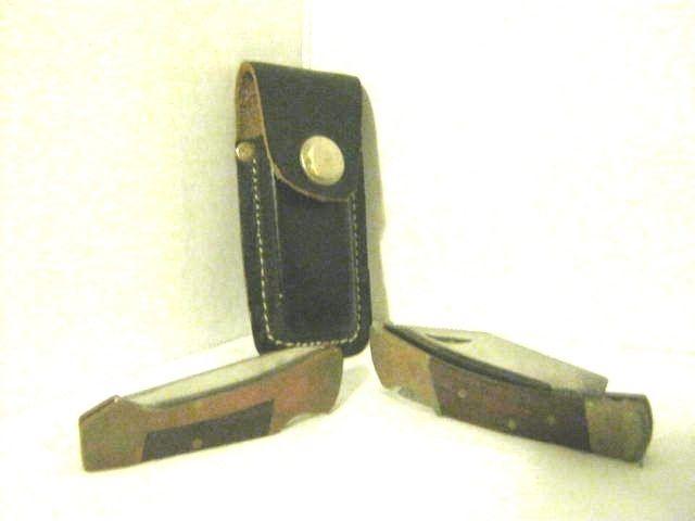 Pocket Knife (Set of 2 Knifes, 1 3/4 in. Blade, 2 in. Blade w/ Case)