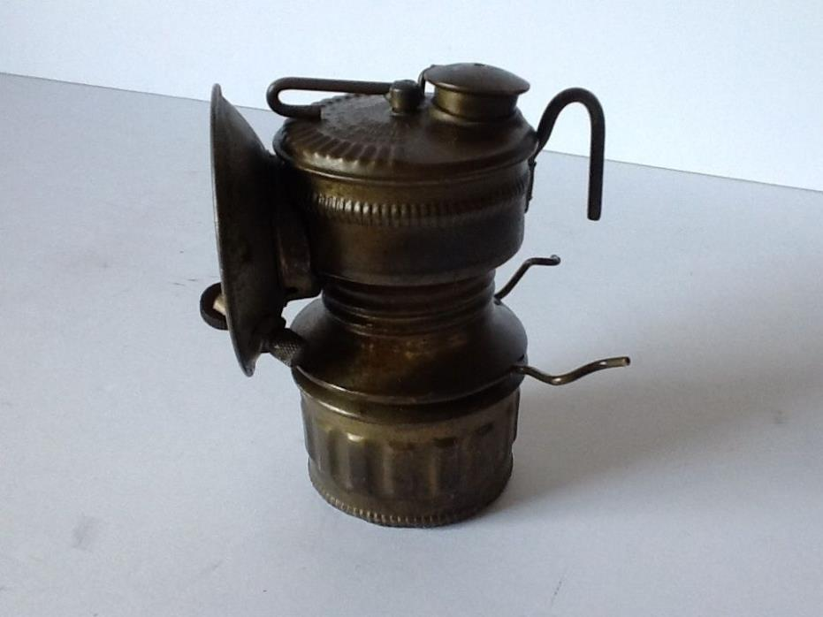 Vintage Old Shanklin Manufacturing Company Miners Brass Carbide Lantern