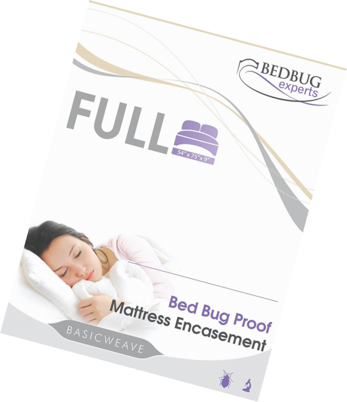 Bed Bug Mattress or Box Spring Encasement Full Size 54 X 75 X 9 Bed Bug Cover