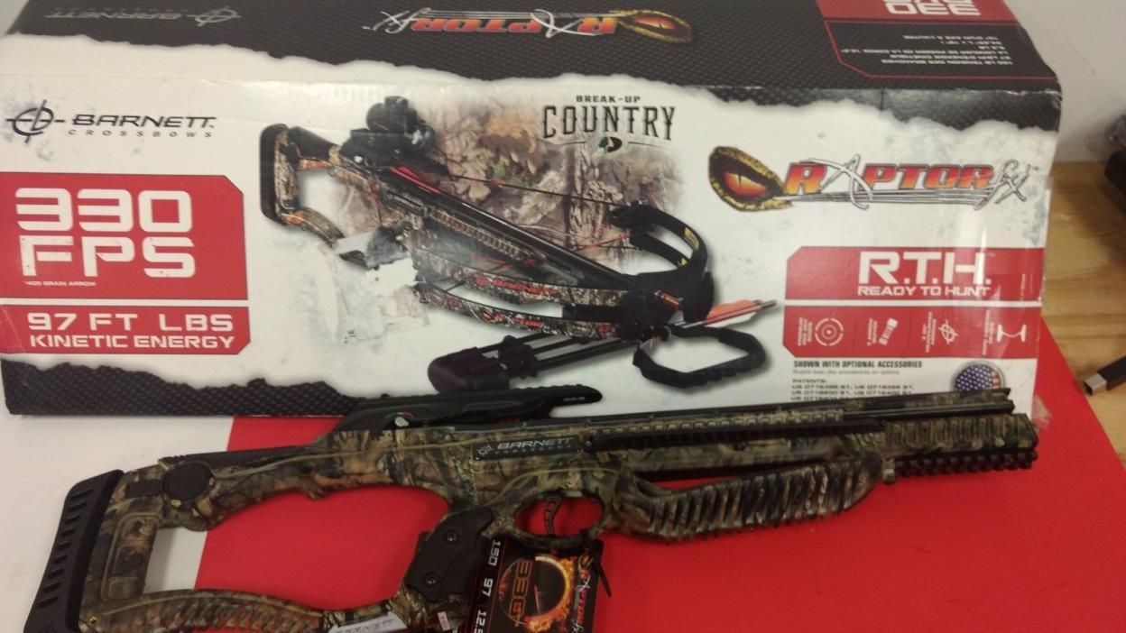 Barnett Raptor FX Crossbow Package w/Red Dot Scope 330 FPS