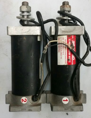 LOT OF 2-Atec Casey Pitching Machine MOTORS.     (1-LEFT) & (1-RIGHT)