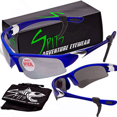Velo Spec 2.50 BIFOCAL Cycling Sunglasses Blue Frame Flash Mirrored Lenses