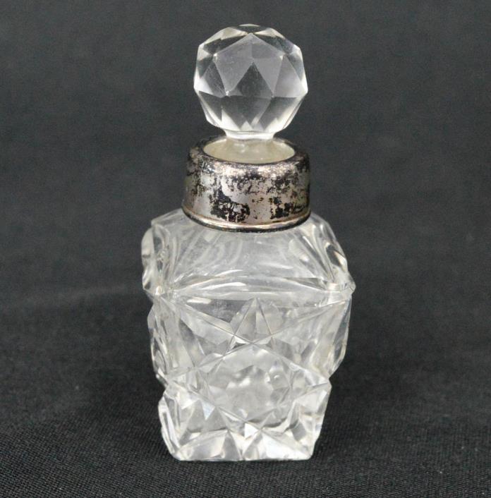 Vintage Glass Vessel Sterling Top CA 119