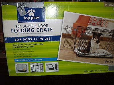 Dog Crate Kennel - Heavy Duty Pet Cage Playpen w/ Metal Tray Pan & cutioned pad!