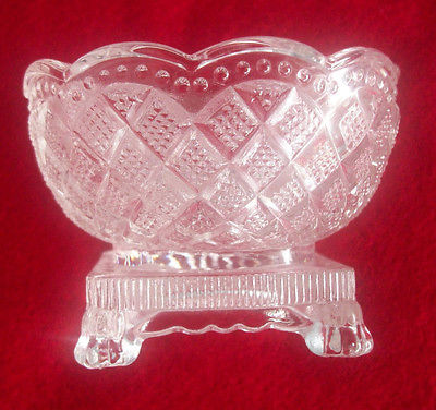 Vintage Glass Small Bowl Avon Multi Pattern Scalloped Top