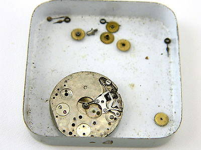 Vintage Lecoultre Swiss E Blancpain Fils 17 Jewel Watch Movement Parts Repair