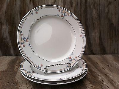 Princess House Heritage Blossom Fine Porcelain Small Dessert Plates Set Of 3
