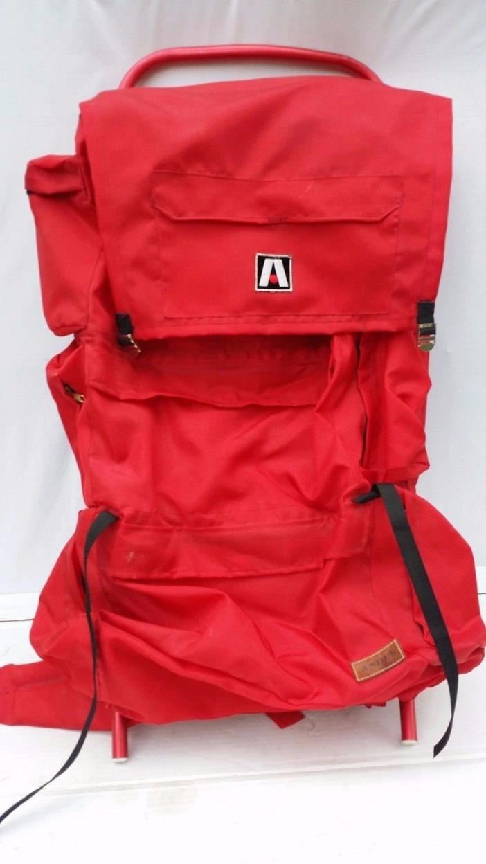 The Andes #5732 External Frame Nylon Back Pack Red