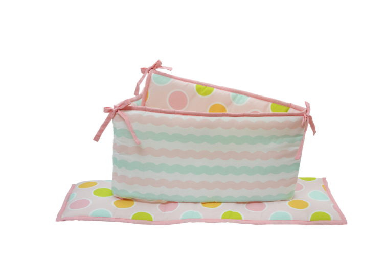 Baby Bumpers Nursery Sea Sweetie Crib Bumpers 4 Piece Reversible Polka Dots Girl