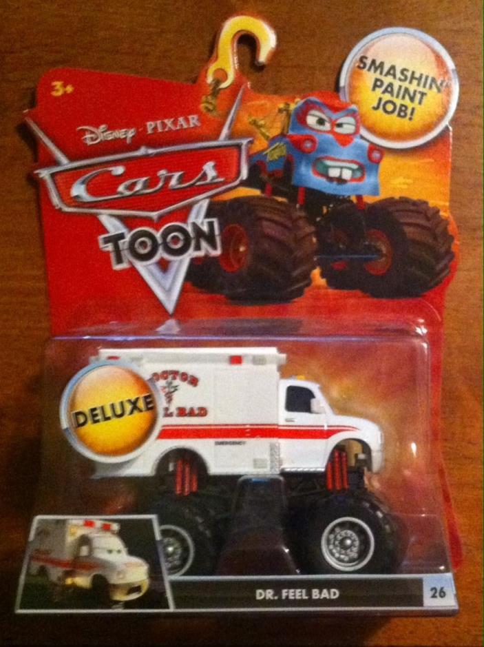 Disney Pixar Cars TOON Dr. Feel Bad Monster Truck #26 BNIP