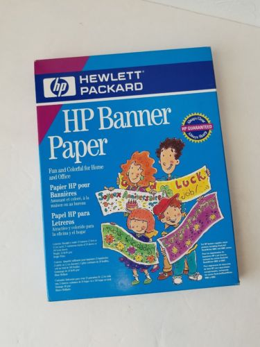 HP Banner Paper 24 LB, 5 continuous stacks of 20 sheets White NWT NOS C1820A