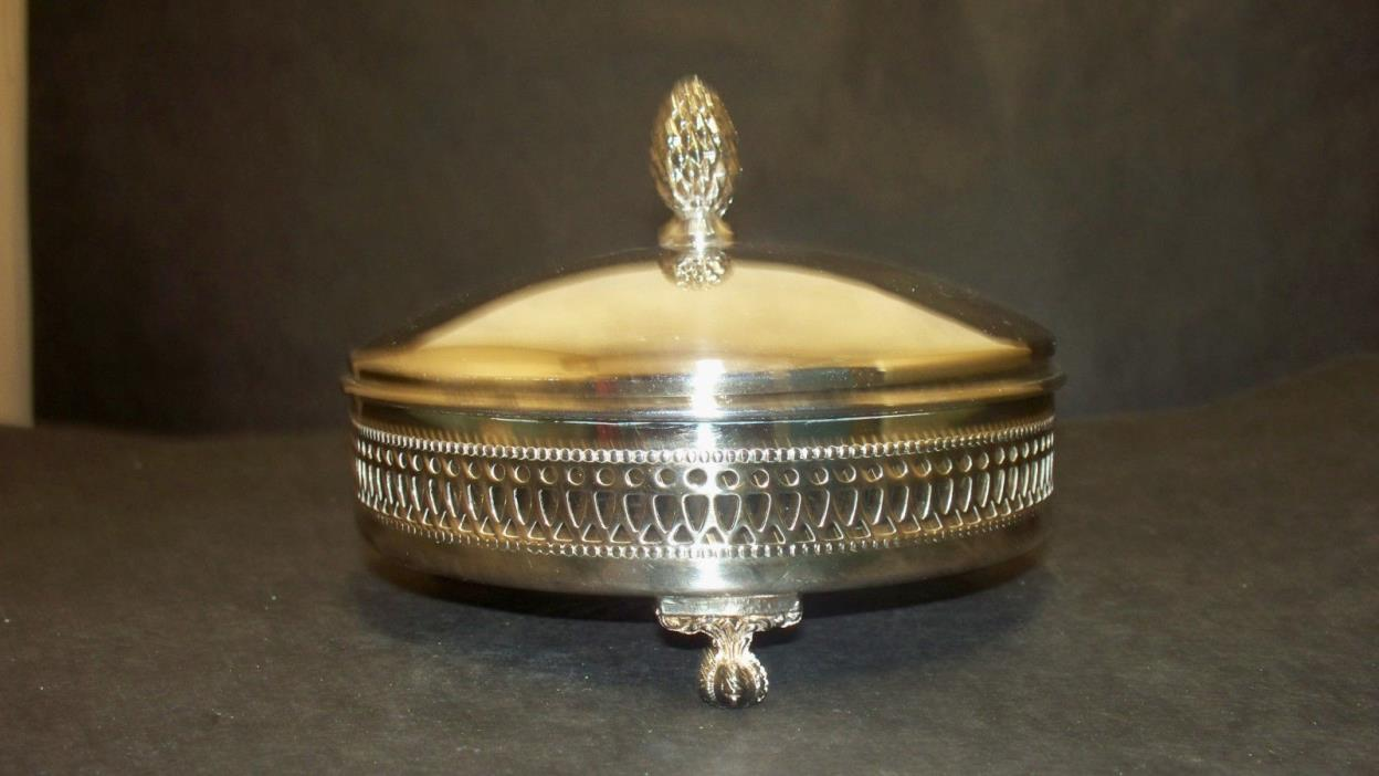 Vintage Sheffield Silver Co Olive Dish