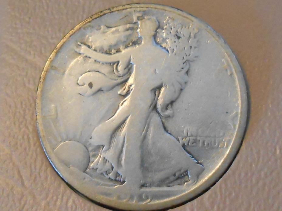 1919D Good Walking Liberty Half Dollar Ref#61
