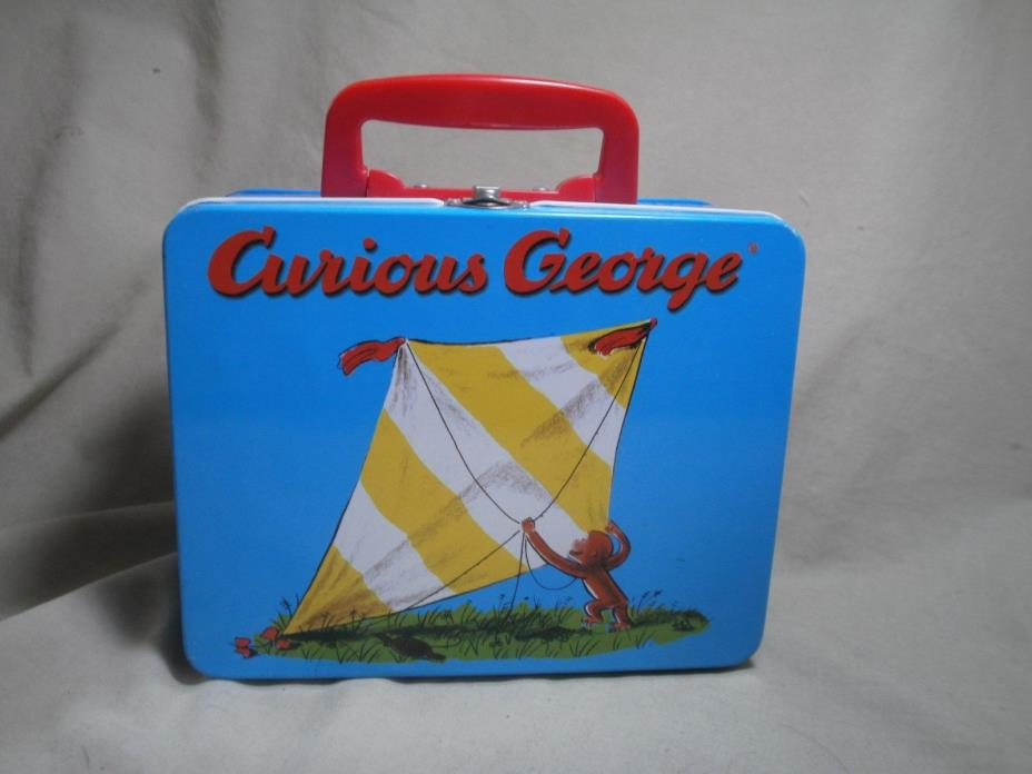 Curious George  Metal Tins Vintage Lunch Box