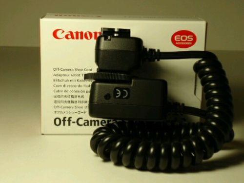 Canon EOS Off Camera Shoe Cord 2 NIB